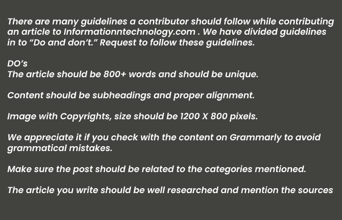 Guest Writer Guidelines - Technology write for us