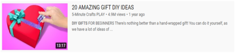 Show a DIY Gift Project - YouTube Video Ideas