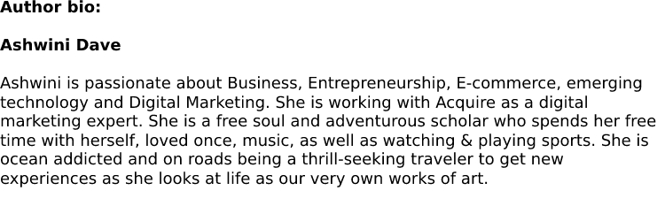 Author bio - Shared Inbox